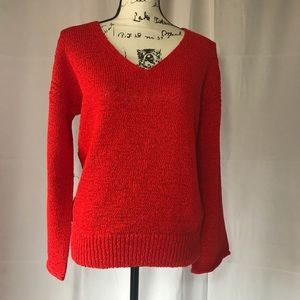 NWT J Crew Tomato Red Colored Sweater